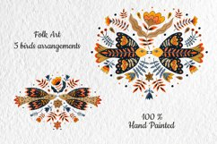 Folk Art Birds Compositions. Product Image 2