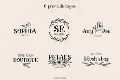 Ciera watercolor svg font family & floral logos clipart Product Image 5