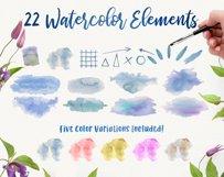 Watercolor Splash Clip Art, Vector Watercolor Backgrounds! Product Image 3