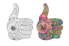 Zentangle hand thumbs up Product Image 2