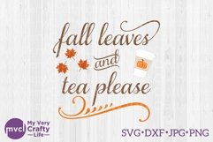Fall Leaves and Tea Please Product Image 1
