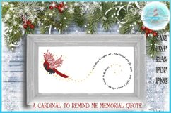 Cardinal To Remind Me Memorial Quote SVG Product Image 1