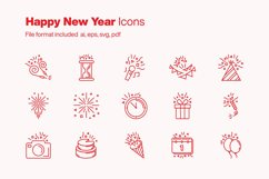 Happy New Year 15 Icons Product Image 1