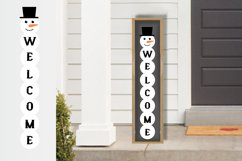 10 Porch door winter signs bundle, welcome signs, snowman Product Image 2