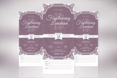 Vintage Luncheon Ticket Template Product Image 2