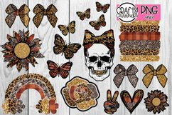 Skull Sunflower Leopard Bows Rainbow Rose Peace sublimation Product Image 1