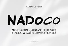 Nadoco Variable Handwritten Font Product Image 1