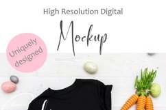 Mockup - Black Toddler/Kid's T-shirt Easter Photography Product Image 2