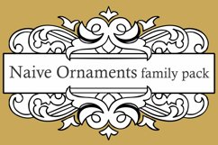 Naive Ornaments Family Pack (seven fonts) Product Image 1