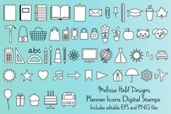 Planner Icons Digital Stamps Product Image 1