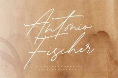 Antonio Fischer Signature Monoline Calligraphy Font Product Image 1