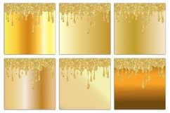 Gold Drips Digital Paper Product Image 2