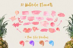 Watercolor Splash Clip Art, Vector Watercolor Backgrounds! Product Image 2