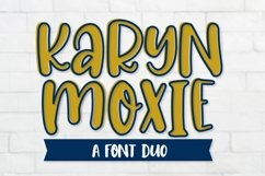 Web Font Karyn Moxie - A Font Outlined Duo Product Image 1