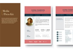Blog Media Kit Template - 3 Page Product Image 3