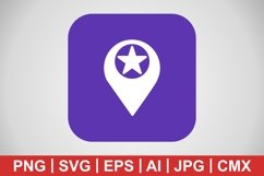 Vector Starred Location Icon Product Image 1