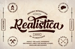 Realistica Font Product Image 1