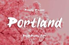 Web Font Portland Font Product Image 1