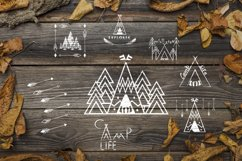 Camping life Graphic. 13 illustration in doodle style Product Image 7
