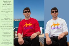 Gecko Man 1 Sweatshirt mock up Product Image 1