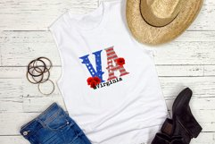State abbreviation. USA sublimation. Virginia Product Image 2