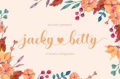 jacky betty   Lovely Calligraphy Product Image 1