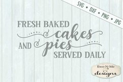 Fresh Baked Cakes Pies - Bakery - Kitchen - SVG DXF Files Product Image 2