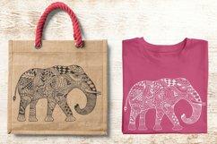Elephant Zentangle - Doodle Art SVG - Vector Product Image 3