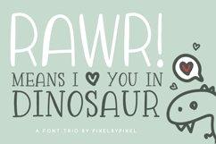 Rawr Sans Serif Font Trio Product Image 1