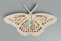 Insect laser cut file - Butterfly Mandala Product Image 1