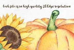 Watercolor Pumpkin clipart, Pumpkin PNG, autumn clipart Product Image 2