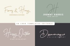 Hellena Jeslyn Signature Font Duo Free Logo Product Image 6