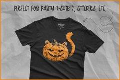 Halloween SVG, Cat Pumpkin SVG, Jack O'Lantern Cat face Product Image 4