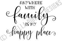 Family Is My Happy Place SVG, Sublimation Design and Print Product Image 3