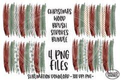 Christmas Brushstroke PNG, Sublimation Brushstrokes, Wood Product Image 1