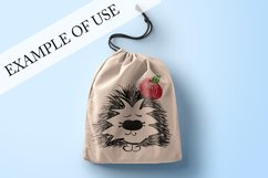 Hedgehog with apple. JPG, PNG, EPS Product Image 2