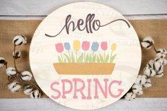 Farmhouse Spring SVG Round Svg Sign Bundle, 6 svg cut files Product Image 2