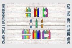 Crayon Circle & Split Monograms SVG Cut File Bundle Product Image 1