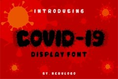 COVID-19 Display Font Product Image 1