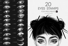 Realistic Eyes Stamps for Procreate Product Image 1