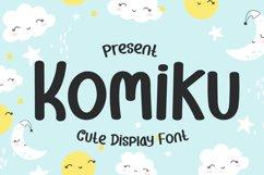 Komiku - Cute Display Font Product Image 1