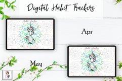 Digital Habit Trackers Y5 Yoga Series for Planner PRINTABLE Product Image 4