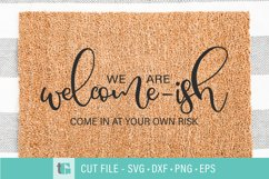 Welcome-ish Doormat SVG - Welcome mat svg Product Image 1