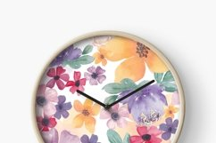 Watercolor flowers seamless pattern Colorful flowers clipart Product Image 5