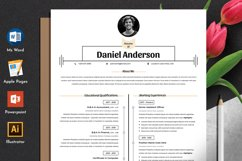 Clean Resume Cv Template in Editable Word Apple Pages Format Product Image 1