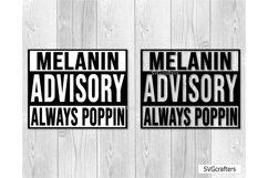 Melanin SVG, Melanin Advisory Always Poppin SVG Product Image 3