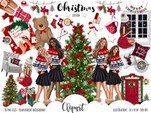 Fashion CHRISTMAS Girl Illustration Product Image 12