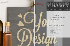 Instant mock up Wood Sign Kitchen Cutting Board Product Image 2
