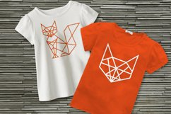 Geometric Fox SVG File Cutting Template Product Image 1
