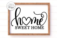 Home Sweet Home SVG | Farmhouse Sign | DXF and More Product Image 1